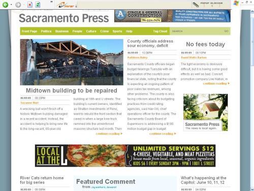 sacramentopress.com's home page