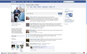 I found Gen. Colin L. Powell's Facebook page!