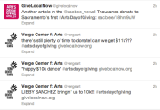 Twitter traffic Arts Day of Giving