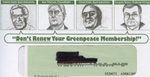 Greenpeace membership renewal