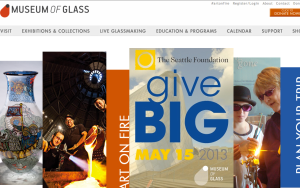 Museum of Glass Home page